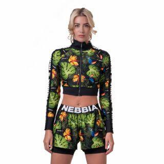 Dámská bunda Nebbia High-Energy Cropped Jacket 564  Jungle Green