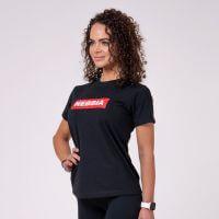 Dámské tričko Basic Black XS - NEBBIA