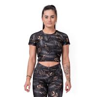 Dámské tričko Crop Top Active Black XS - NEBBIA