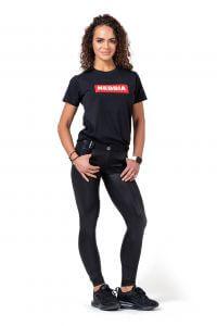 Dámské tričko NEBBIA Basic 592 (bílá, černá) Barva: Černá, Velikost: XS