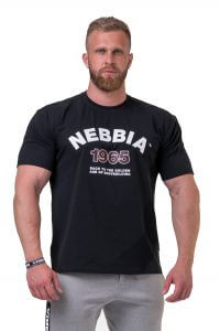NEBBIA Golden Era Tričko 192 Black Barva: Černá, Velikost: M