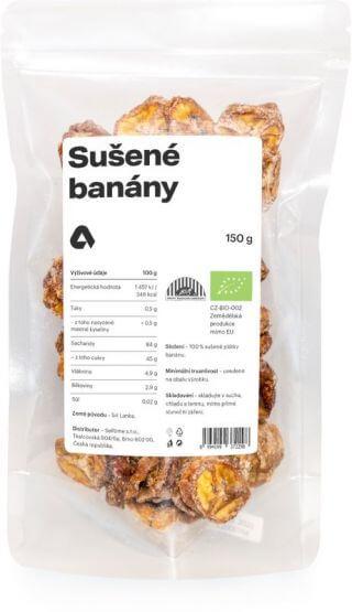 Aktin Sušené banány BIO 150 g