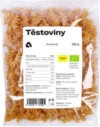 Aktin Těstoviny hrachové BIO 250 g