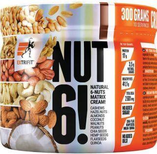 Extrifit Nut 6! 300 g 300g Dvojitá čokoláda