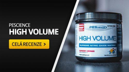 PEScience High Volume [recenze]: Netradiční preworkout, který nás zaujal